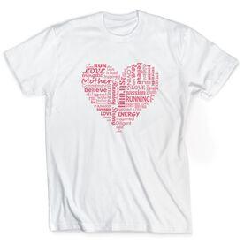 Running Short Sleeve T-Shirt - Runner Mom's Heart