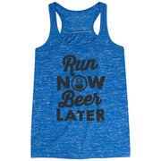 Flowy Racerback Tank Top - Run Club Run Now Beer Later