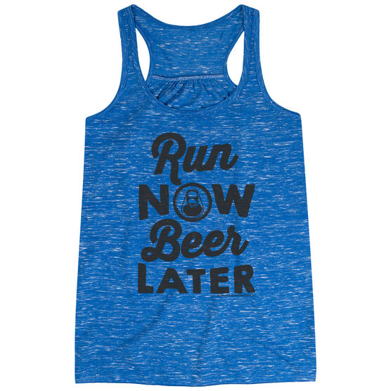 Flowy Racerback Tank Top - Run Club Run Now Beer Later