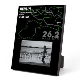 Running Photo Frame - Personalized Berlin Map
