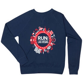 Running Raglan Crew Neck Sweatshirt - Run for Las Vegas