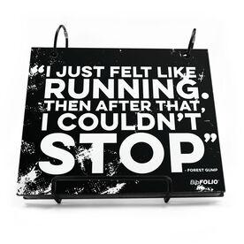 BibFOLIO® Race Bib Album - I Just Felt Like Running Quote