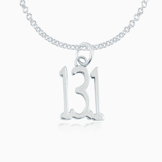 Sterling Silver 13.1 Half Marathon Necklace (Tall)