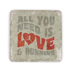 Running Stone Coaster Love and Running