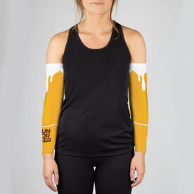 Running Printed Arm Sleeves - Will Run For Beer