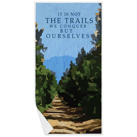 Running Premium Beach Towel - It Is Not The Trails We Conquer