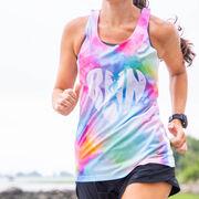 Women's Performance Tank Top - Love The Run Watercolor