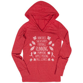 Women's Running Lightweight Performance Hoodie - Fall Running