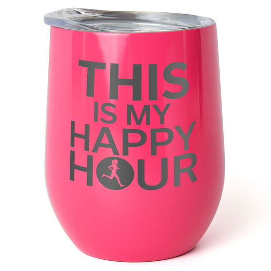 Running Stainless Steel Wine Tumbler - This is My Happy Hour