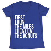 Women's Running Short Sleeve Tech Tee - Then I Eat The Donuts