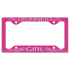 Runner Girl... License Plate Holder