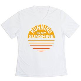 Women's Short Sleeve Tech Tee - Running is My Sunshine (VR)