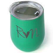 Running Stainless Steel Wine Tumbler - Run Heart