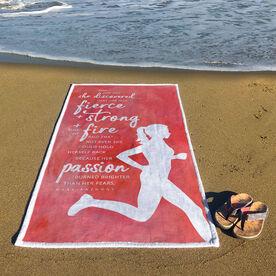Running Premium Beach Towel - And One Day