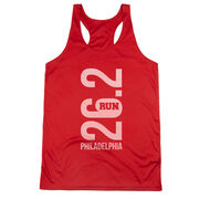 Women's Racerback Performance Tank Top - Philadelphia 26.2 Vertical
