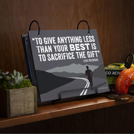 BibFOLIO® Race Bib Album - To Give Anything Less