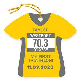 Triathlon Ornament - Personalized My First Triathlon Shirt