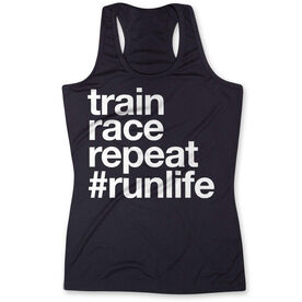 Women's Performance Tank Top - Train Race Repeat