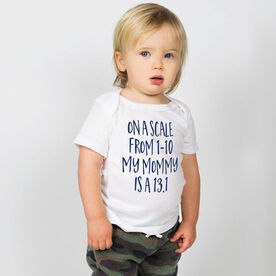 Running Baby T-Shirt - My Mommy Is A 13.1