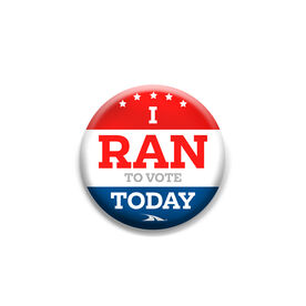 Lapel Pin I Run To Vote