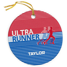 Running Porcelain Ornament Ultra Runner U.S.A.