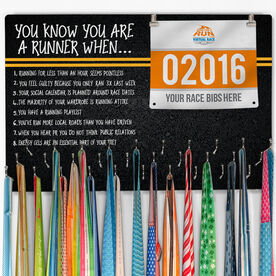 Running Large Hooked on Medals and Bib Hanger - You Know You're A Runner When