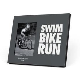 Triathlon Photo Frame - Swim Bike Run Stacked