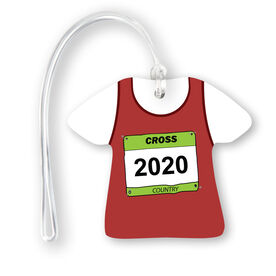 Cross Country Jersey Bag/Luggage Tag - Personalized Singlet