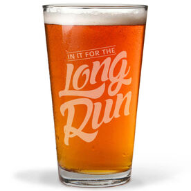 Running 20 oz Beer Pint Glass In It For The Long Run