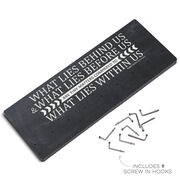 Running Hooked on Medals Hanger - Chalkboard What Lies Behind You