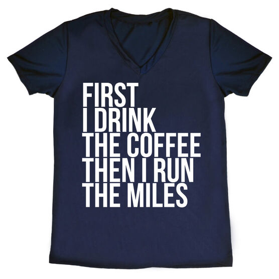 Women's Running Short Sleeve Tech Tee - Then I Run The Miles