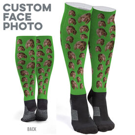 Printed Knee-High Socks - Custom Face Photo