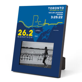 Running Photo Frame - Personalized Toronto Map