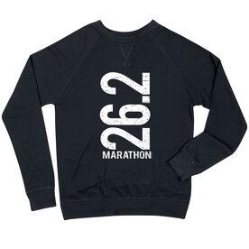 Running Raglan Crew Neck Sweatshirt - 26.2 Marathon Vertical