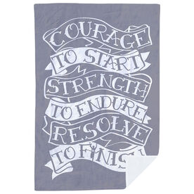 Running Premium Blanket - Courage To Start Tattoo