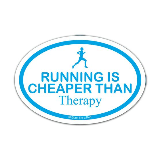 Running is Cheaper than Therapy Mini Car Magnet - Fun Size