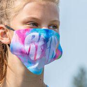 Running Face Mask - Love the Run Watercolor