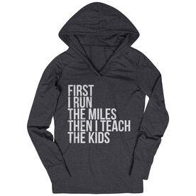 Women's Running Lightweight Performance Hoodie - Then I Teach The Kids