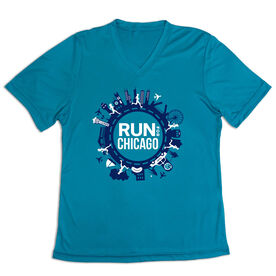 Women's Short Sleeve Tech Tee - Run For Chicago