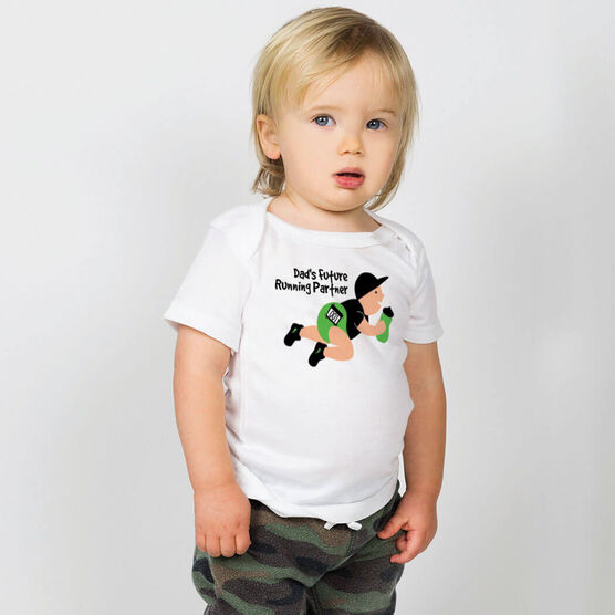 Running Baby T-Shirt - Dad's Future Running Partner