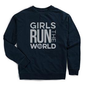 Running Raglan Crew Neck Sweatshirt - Girls Run The World