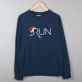Running Raglan Crew Neck Sweatshirt - Let's Run For Christmas