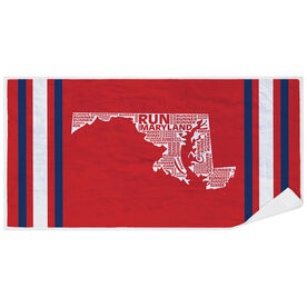 Running Premium Beach Towel - Maryland State Runner