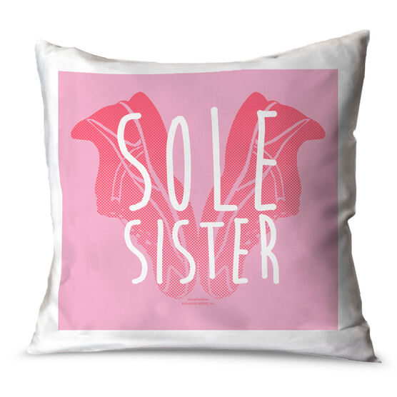 Running Throw Pillow Sole Sister Love