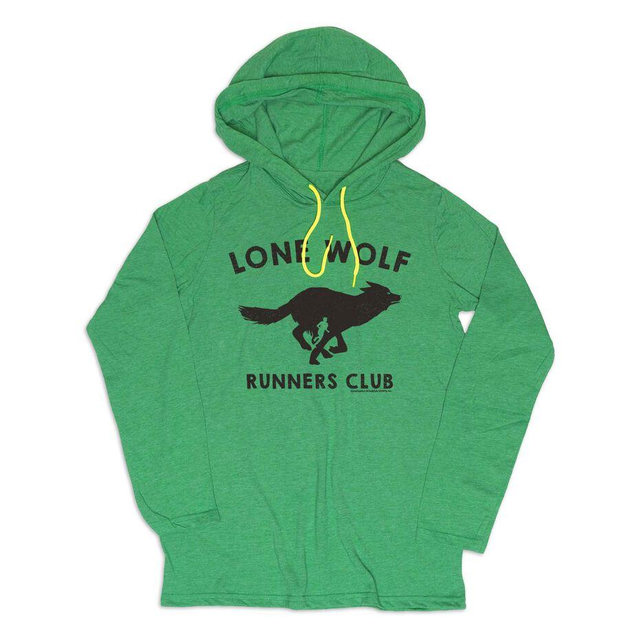 Men's Running Lightweight Hoodie - Run Club Lone Wolf