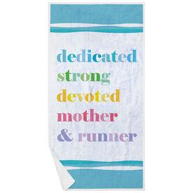 Running Premium Beach Towel - Mantra Mother Runner