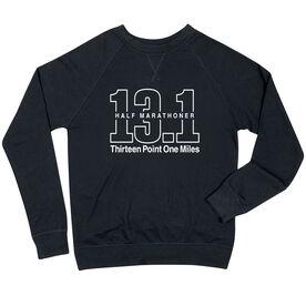 Running Raglan Crew Neck Sweatshirt - Half Marathoner 13.1 Miles