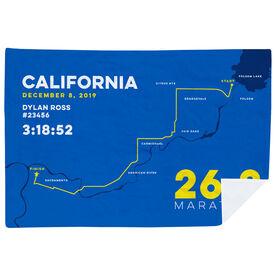 Running Premium Blanket - California 26.2 Route