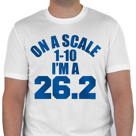 Men's Running Customized Short Sleeve Tech Tee On A Scale 1-10 Im A 26.2