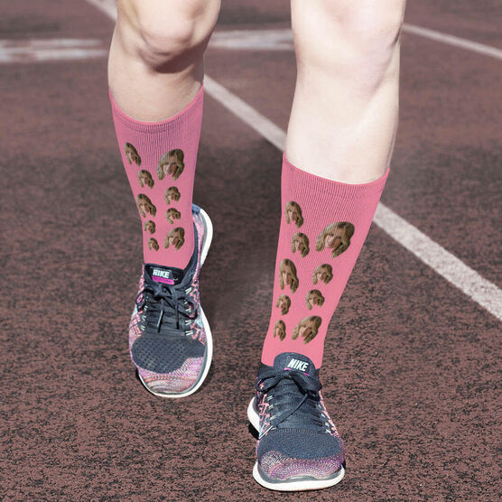 Printed Mid-Calf Socks - Custom Face